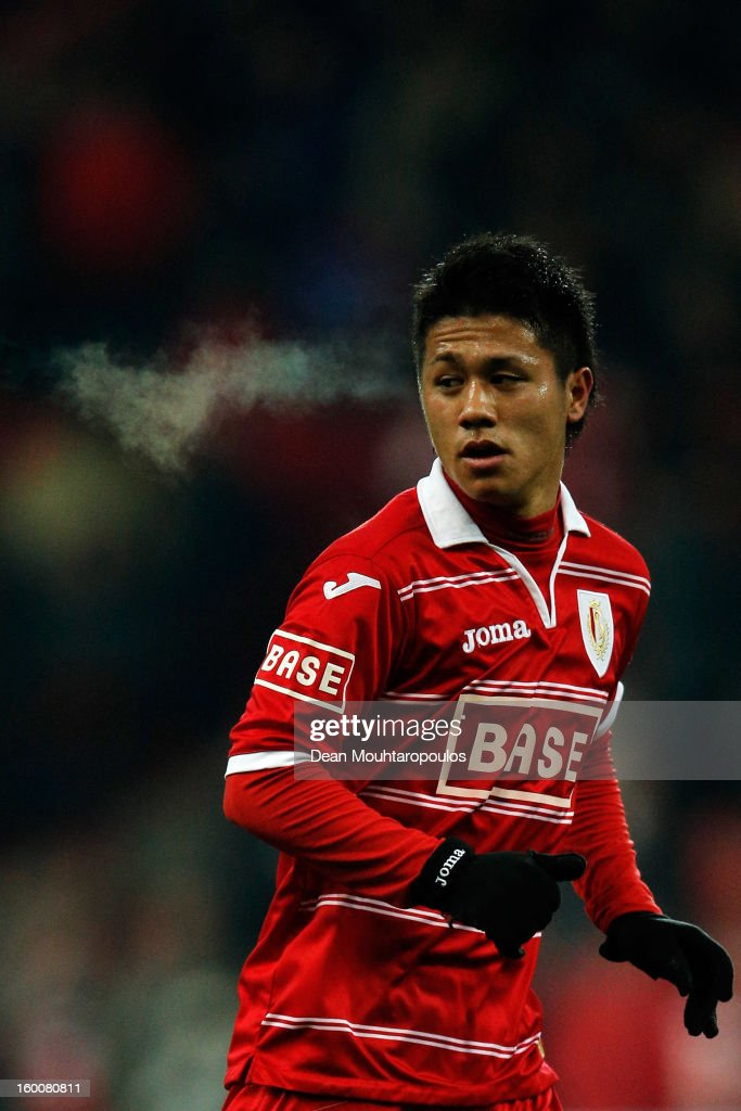 Yuji Ono of Standard in action during the Jupiler League match between Standard de Liege and KV Kortrijk at Stade Maurice Dufrasne the on January 25...