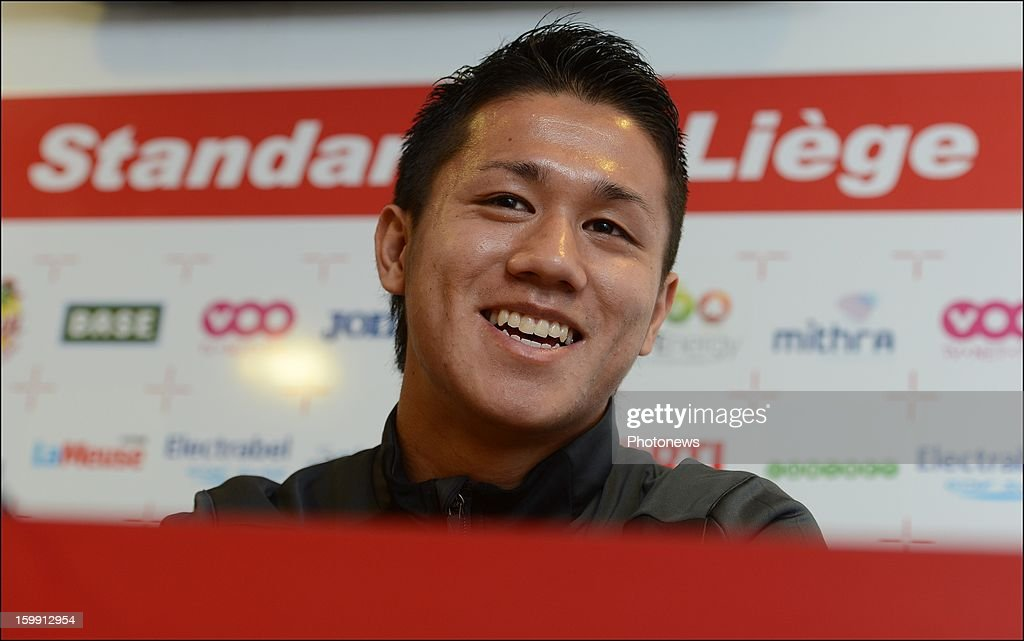 Yuji Ono pictured during an official presentation as new player of Standard Liege on January 22, 2013 in Liege, Belgium.