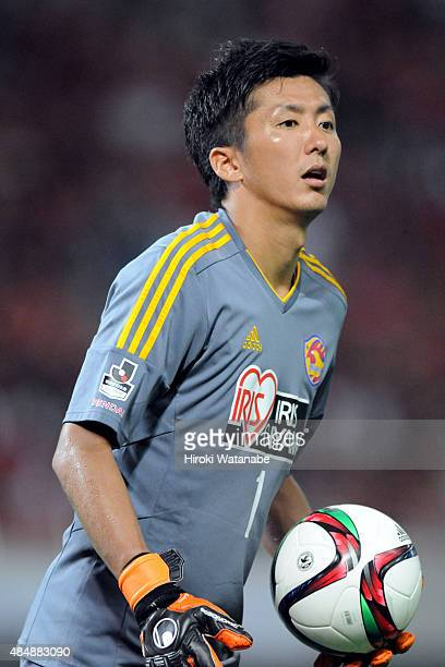 Yuji Rokutan of Vegalta Sendai in action during the JLeague match between Urawa Red Diamonds and Vegalta Sendai at Saitama Stadium on August 22 2015...