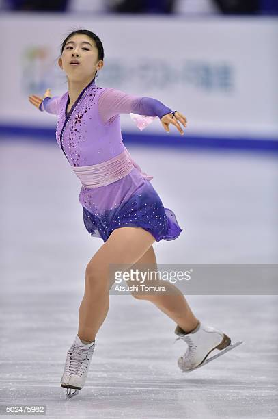 Yuka Nagai of Japan competes in the ladies short program during the day two of the 2015 Japan Figure Skating Championships at the Makomanai Ice Arena...