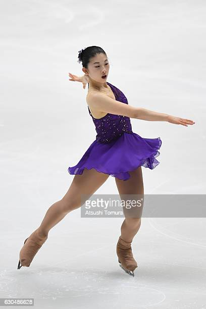 Yuka Nagai of Japan competes in the Ladies short program during the Japan Figure Skating Championships 2016 on December 24 2016 in Kadoma Japan