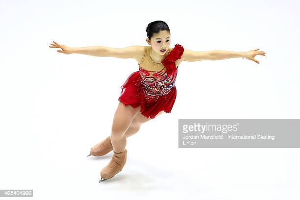 Yuka Nagai of Japan performs during the Women's Free Skating on Day 3 of the ISU World Junior Figure Skating Championships at Tondiraba Ice Arena on...