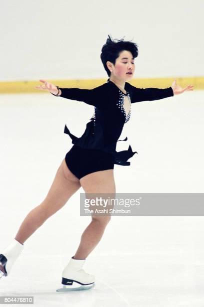 Yuka Sato competes in the Women's Singles Free Program during the 62nd All Japan Figure Skating Championships at Shin Yokohama Prince Hotel Skate...
