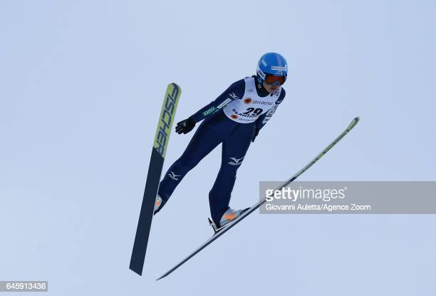 Yuka Seto of Japan competes during the FIS Nordic World Ski Championships Women's Ski Jumping HS100 on February 24 2017 in Lahti Finland
