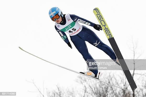Yuka Seto of Japan competes in the Ladies HS 100 during the FIS Women's Ski Jumping World Cup Sapporo at the Miyanomori Ski Jump Stadium on January...
