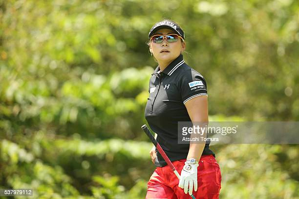 Yukari Baba of Japan looks on during the second round of the Yonex Ladies Golf Tournament 2016 at the Yonex Country Club on June 4 2016 in Nagaoka...