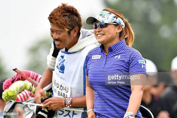 Yukari Baba of Japan smails during the first round of the Resorttrust Ladies at the Grandee Naruto Golf Club XIV on May 27 2016 in Naruto Japan