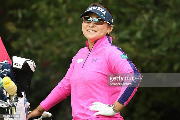 Yukari Baba of Japan smiles during the first round of the Higuchi Hisako Ponta Ladies at the Musashigaoka Golf Course on October 30 2015 in Hanno...