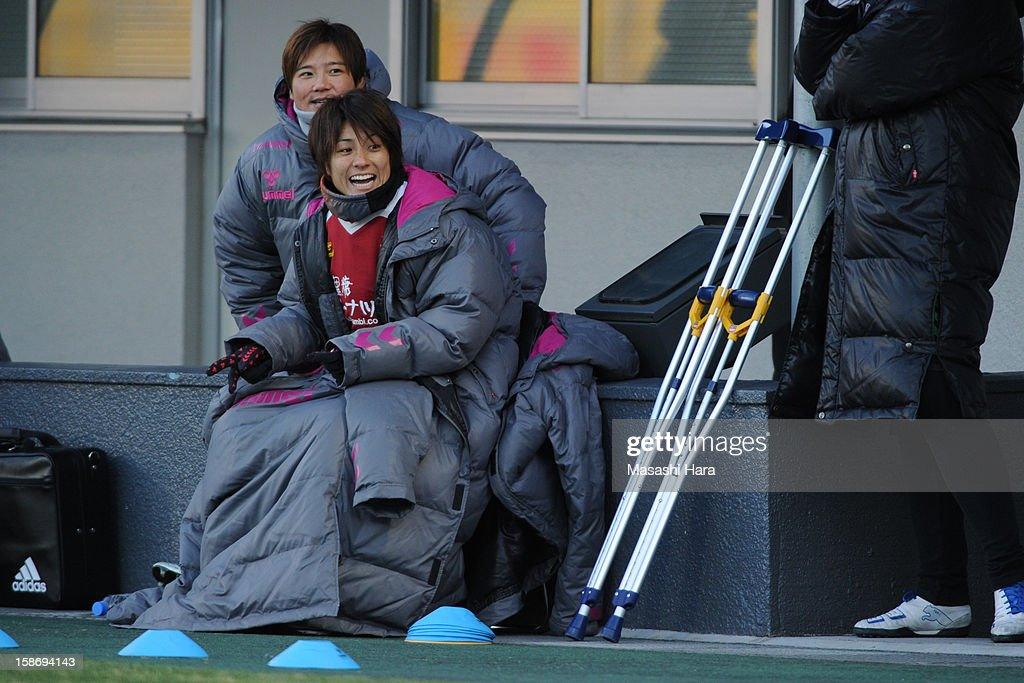 Yukari Kinga #2 of INAC Kobe Leonessa looks on during the 34th Empress's Cup All Japan Women's Football Tournament final match between INAC Kobe Leonessa and JEF United Chiba Ladies at Nack 5 Stadium Omiya on December 24, 2012 in Saitama, Japan.