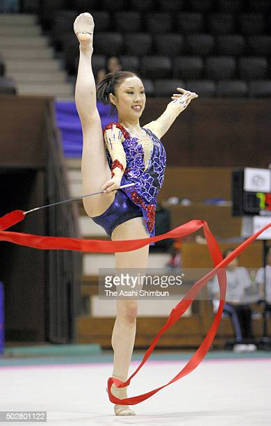 yukari murata competes in the rhythmic gymnastics asian games at picture id502801122?s=612x612 - Asian Games Rhythmic Gymnastics