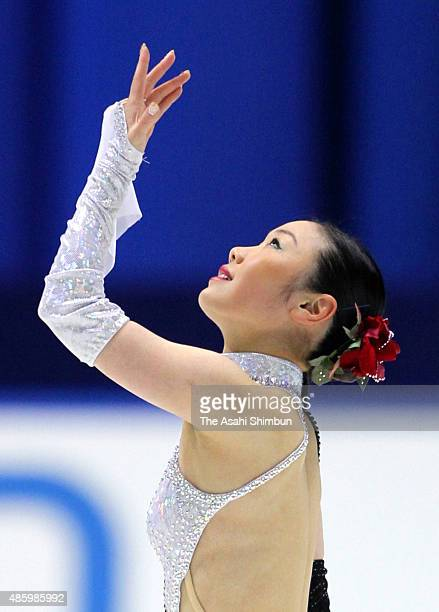 Yukari Nakano competes in the Ladies Singles Short Program during day two of the Japan Figure Skating Championships 2009 at Namihaya Dome on December...