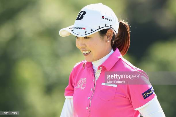 Yukari Nishiyama of Japan looks on during the final round of the Yonex Ladies Golf Tournament 2016 at the Yonex Country Club on June 4 2017 in...