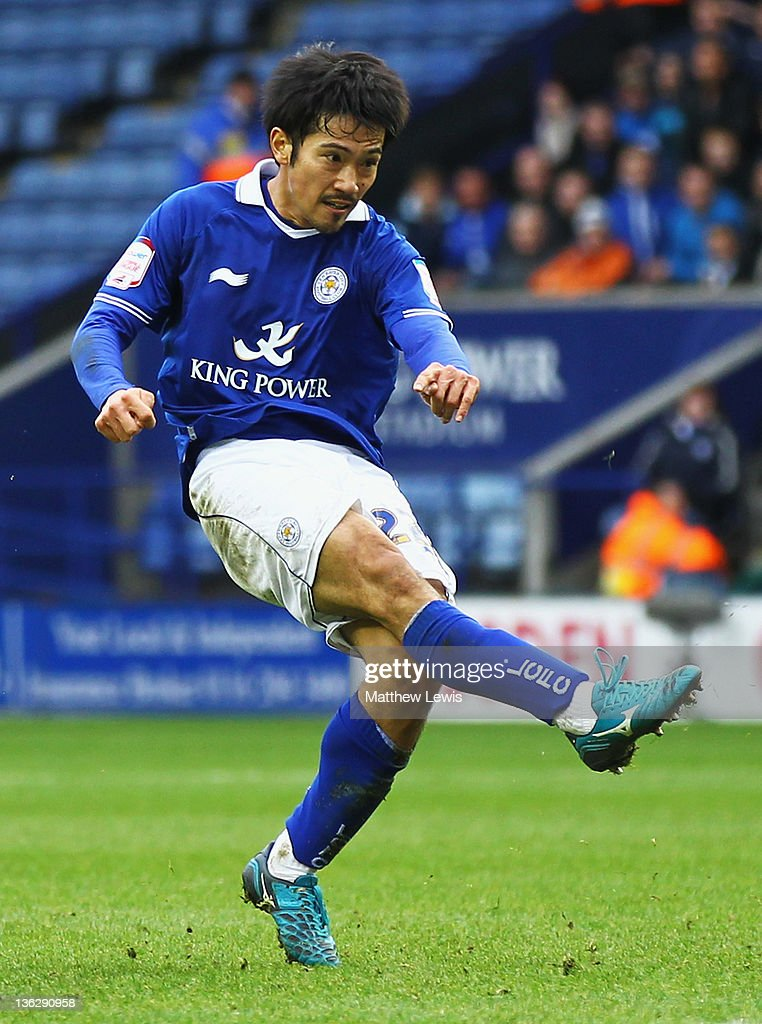 <a gi-track='captionPersonalityLinkClicked' href=/galleries/search?phrase=Yuki+Abe&family=editorial&specificpeople=643492 ng-click='$event.stopPropagation()'>Yuki Abe</a> of Leicester City in action during the npower Championship match between Leicester City and Portsmouth at The King Power Stadium on December 31, 2011 in Leicester, England.