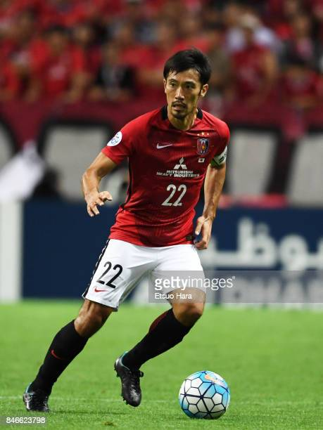 Yuki Abe of Urawa Red Diamonds in action during the AFC Champions League quarter final second leg match between Urawa Red Diamonds and Kawasaki...