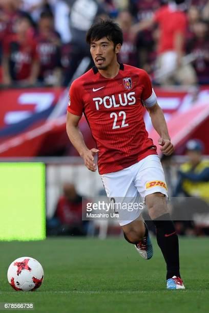 Yuki Abe of Urawa Red Diamonds in action during the JLeague J1 match between Urawa Red Diamonds and Kashima Antlers at Saitama Stadium on May 4 2017...
