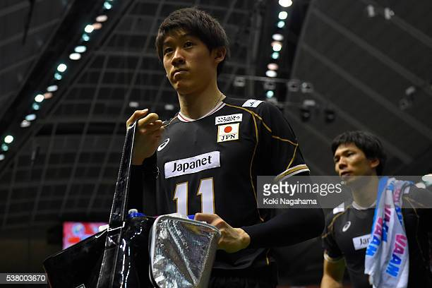 Yuki Ishikawa of Japan looks dejected after losing the Men's World Olympic Qualification game between Japan and Canada at Tokyo Metropolitan...