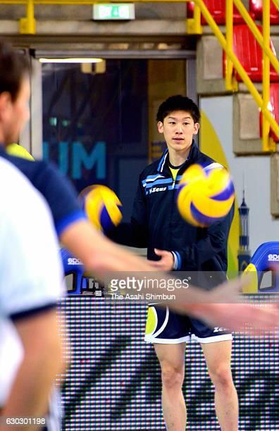 Yuki Ishikawa of Top Volley Latina is seen during the Volleyball SuperLega match between Calzedonia Verona and Top Volley Latina at AGSM Forum Verona...