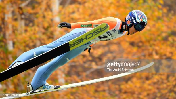 Yuki Ito competes in the first jump in the women's event during the 96th All Japan Ski Championships Ski Jumping at Okurayama Jump Stadium on...