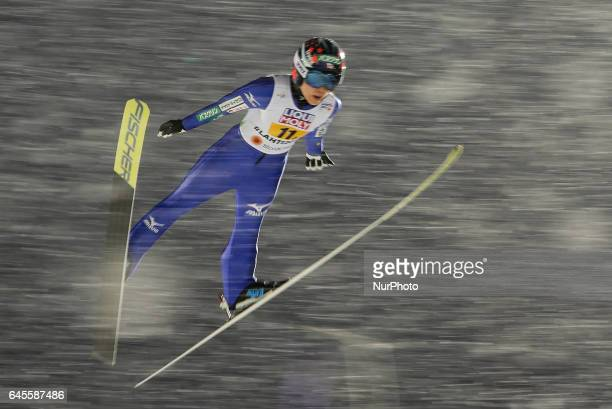 Yuki Ito competes in the Mixed Team HS100 Normal Hill Ski Jumping during the FIS Nordic World Ski Championships on February 26 2017 in Lahti Finland