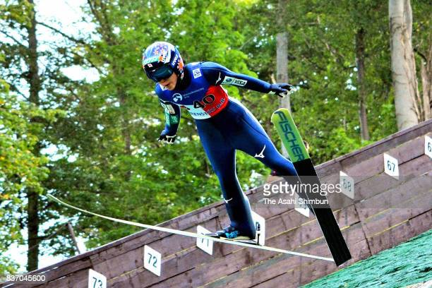 Yuki Ito of Japan competes during day one of the FIS Ski Jumping Summer Grand Prix on August 18 2017 in Frenstat pod Radhostem Czech Republic