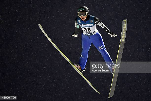 Yuki Ito of Japan competes during the FIS Ski Jumping World Cup Women's HS100 on December 05 2014 in Lillehammer Norway