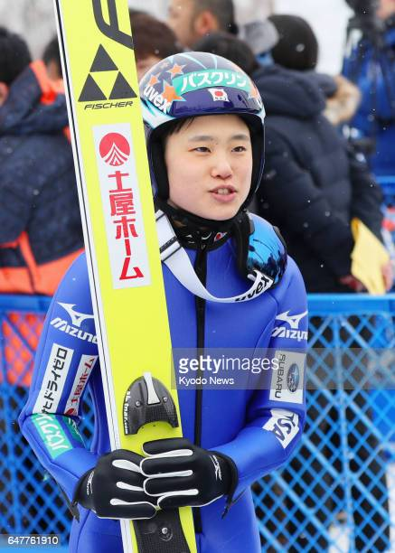 Yuki Ito of Japan meets with reporters following her normal hill victory at the International Miyasama Ski Games in Sapporo on March 4 2017 ==Kyodo