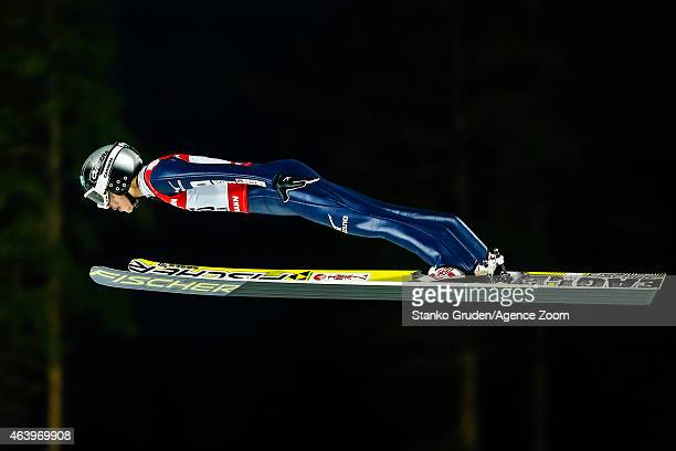 Yuki Ito of Japan takes 2nd place during the FIS Nordic World Ski Championships Women's Ski Jumping HS100 on February 20 2015 in Falun Sweden