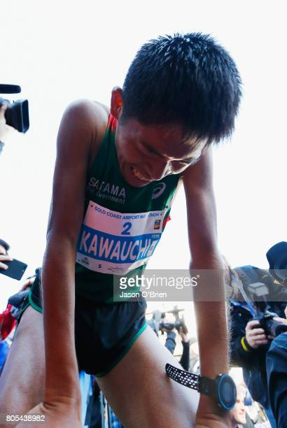 Yuki Kawauchi from Japan after finishing third during the Gold Coast Marathon on July 2 2017 in Gold Coast Australia