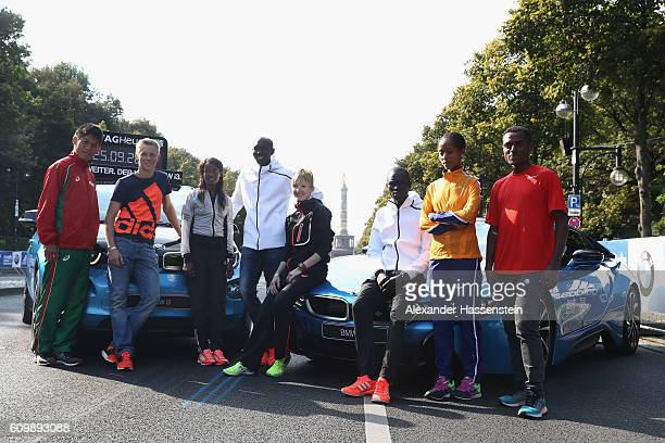 Yuki Kawauchi of Japan Steffen Uliczka of Germany Aberu Kebede of Ethiopia ormer world record holder Wilson Kipsang of Kenya Katharina Heinig of...