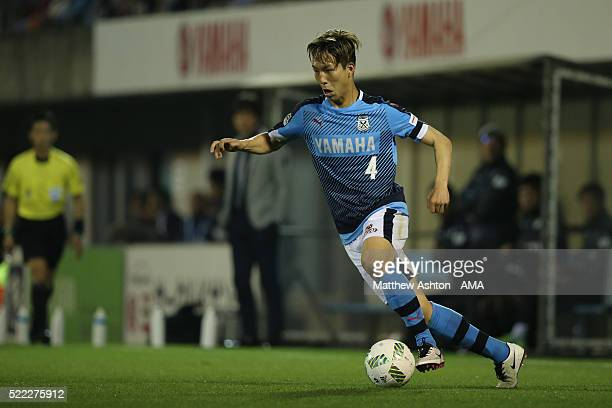 Yuki Kobayashi of Jubilo Iwata during the JLeague match between Jubilo Iwata and Yokohama FMarinos at the Yamaha Stadium on April 16 2016 in Iwata...