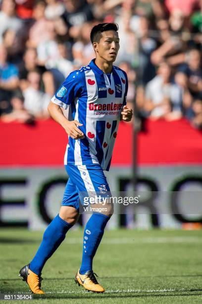 Yuki Kobayashi of sc Heerenveen during the Dutch Eredivisie match between FC Groningen and sc Heerenveen at Noordlease stadium on August 13 2017 in...