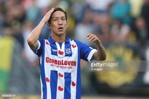 Yuki Kobayashi of sc Heerenveen during the Dutch Eredivisie match between ADO Den Haag and sc Heerenveen at Kyocera stadium on August 26 2017 in The...