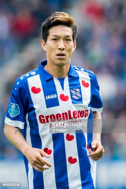 Yuki Kobayashi of sc Heerenveen during the Dutch Eredivisie match between sc Heerenveen and PSV Eindhoven at Abe Lenstra Stadium on September 10 2017...