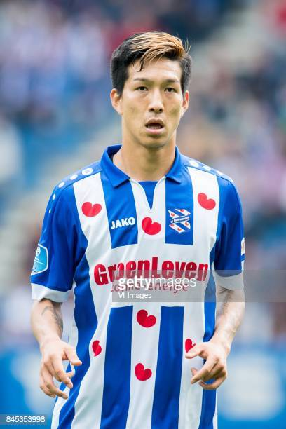 Yuki Kobayashi of sc Heerenveen during the Dutch Eredivisie match between sc Heerenveen and PSV Eindhoven at Abe Lenstra Stadium on September 10 2017...