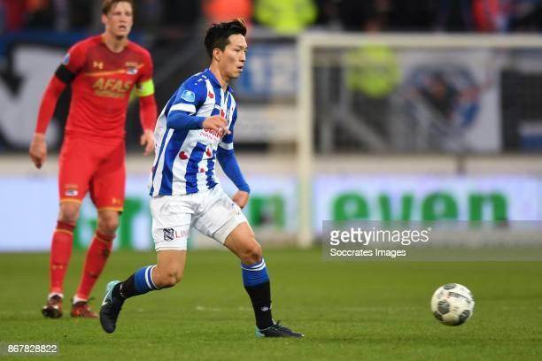 *Yuki Kobayashi* of SC Heerenveen during the Dutch Eredivisie match between SC Heerenveen v AZ Alkmaar at the Abe Lenstra Stadium on October 29 2017...