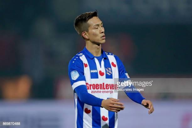 Yuki Kobayashi of SC Heerenveen during the Dutch Eredivisie match between Sparta v SC Heerenveen at the Sparta Stadium Het Kasteel on November 3 2017...