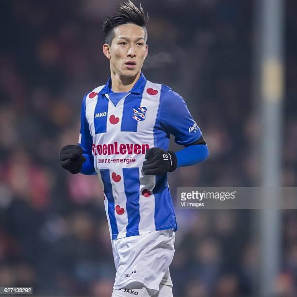Yuki Kobayashi of SC Heerenveenduring the Dutch Eredivisie match between Go Ahead Eagles and sc Heerenveen at The Adelaarshorst on December 03 2016...