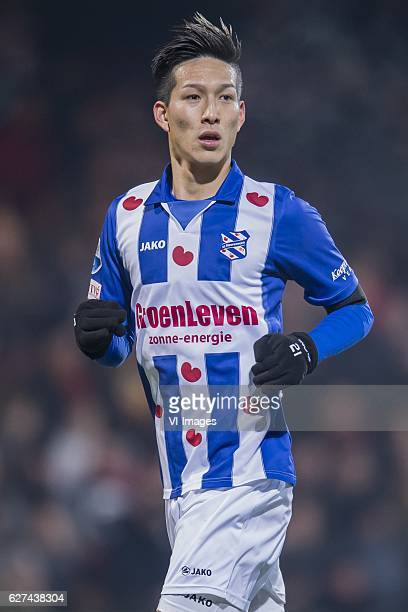 Yuki Kobayashi of SC Heerenveenduring the Dutch Eredivisie match between Go Ahead Eagles and sc Heerenveen at The Adelaarshorst on December 03 2016...