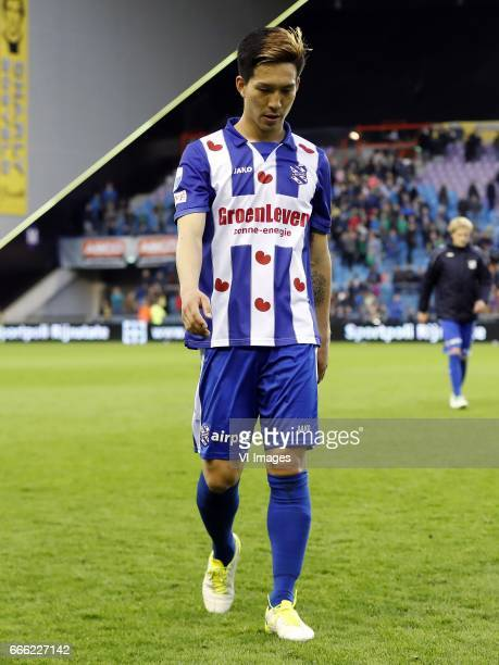 Yuki Kobayashi of sc Heerenveenduring the Dutch Eredivisie match between Vitesse Arnhem and sc Heerenveen at Gelredome on April 08 2017 in Arnhem The...
