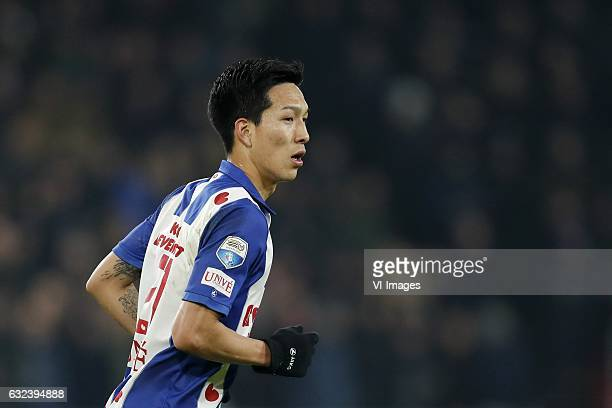 Yuki Kobayashi of sc Heerenveenduring the Dutch Eredivisie match between PSV Eindhoven and sc Heerenveen at the Phillips stadium on January 22 2017...