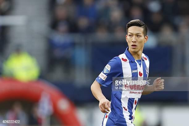 Yuki Kobayashi of sc Heerenveenduring the Dutch Eredivisie match between sc Heerenveen and Ajax Amsterdam at Abe Lenstra Stadium on November 27 2016...