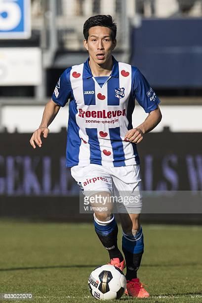 Yuki Kobayashi of SC Heerenveenduring the Dutch Eredivisie match between sc Heerenveen and FC Groningen at Abe Lenstra Stadium on January 29 2017 in...