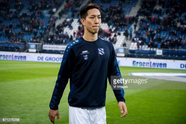 Yuki Kobayashi of sc Heerenveenduring the Dutch Eredivisie match between sc Heerenveen and Willem II at Abe Lenstra Stadium on April 21 2017 in...