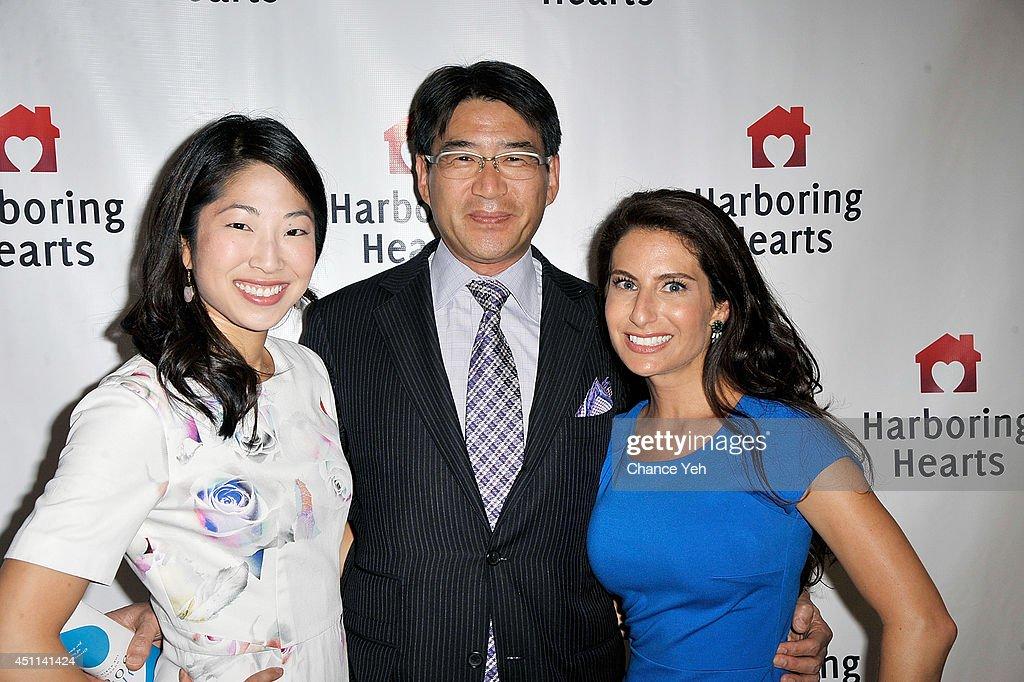 Yuki Kotani, Yoshi Kuminaka and Michelle Javian attend Harboring Hearts' 2nd annual Summer Soiree at Rubin Museum of Art on June 23, 2014 in New York City.