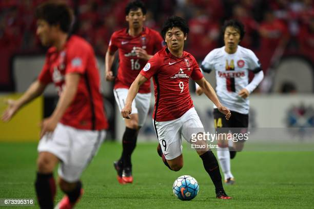 Yuki Muto of Urawa Red Diamonds in action during the AFC Champions League Group F match between Urawa Red Diamonds and Western Sydney at Saitama...