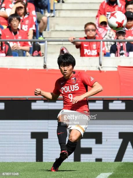 Yuki Muto of Urawa Red Diamonds in action during the JLeague J1 match between Urawa Red Diamonds and Kashima Antlers at Saitama Stadium on May 4 2017...