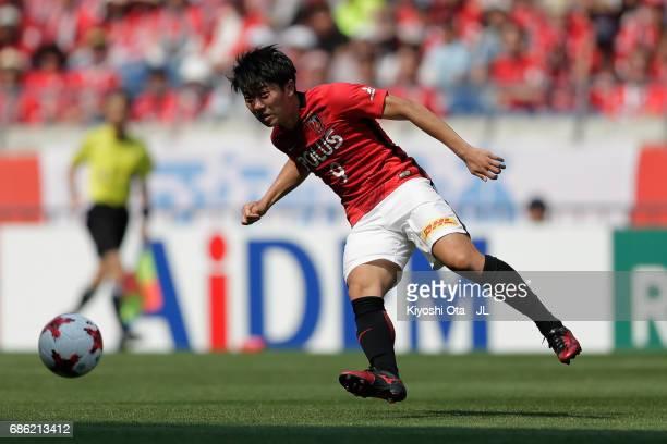 Yuki Muto of Urawa Red Diamonds in action during the JLeague J1 match between Urawa Red Diamonds and Shimizu SPulse at Saitama Stadium on May 20 2017...