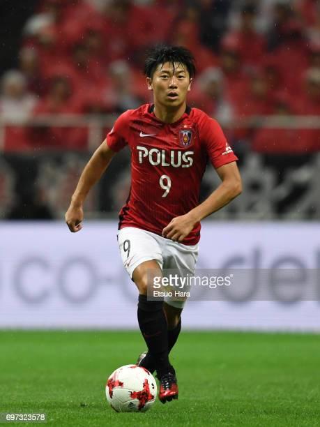 Yuki Muto of Urawa Red Diamonds in action during the JLeague J1 match between Urawa Red Diamonds and Jubilo Iwata at Saitama Stadium on June 18 2017...