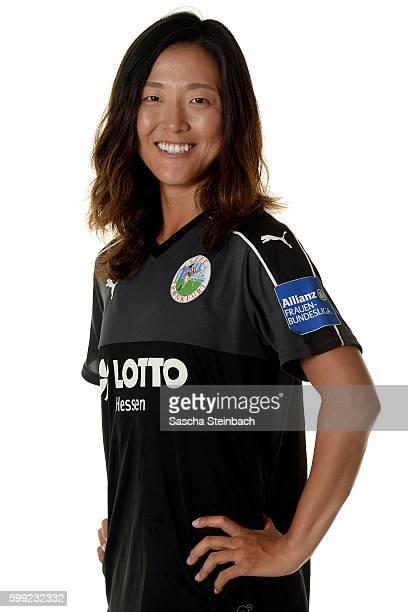 Yuki Nagasato of 1 FFC Frankfurt poses during the Allianz Women's Bundesliga Club Tour on September 2 2016 in Frankfurt Germany