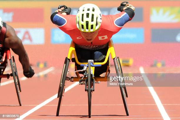 Yuki Nishi of Japan competes in the Men's 200m T54 round 1 during Day Five of the IPC World ParaAthletics Championships 2017 London at London Stadium...